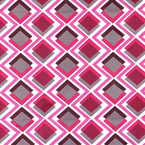 Linenwalas Diamond Print Reversible Geometric Cotton Dohar - King Size, Pink