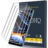 QHOHQ Skärmskydd för Realme 7/Realme 7 Pro/Realme 6/Realme 6S, [3-pack] härdat glasfilm, 9H hårdhet – inga bubblor – anti-fin