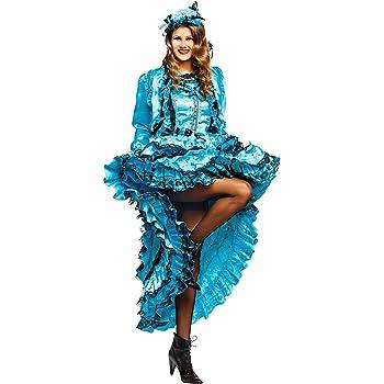 Costume di Carnevale da Lady Burlesque Vestito per Donna Adulti Travestimento Veneziano Halloween Cosplay Festa Party 50528 Taglia S