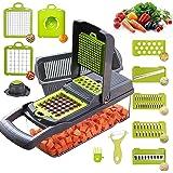 Mandoline Cuisine Multifonction Couper les Legumes 11 en 1, Trancheur de Légumes, Hachoir de Graterie de Cuisine Multifonctio