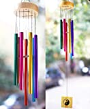 PARADIGM PICTURES Wood Metal Wind Chime (Multicolour, 30 Inch)