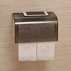 HOKIPO® Magic Sticker Series Self Adhesive Two Way Kitchen/Bathroom Toilet Paper Holder Dispenser