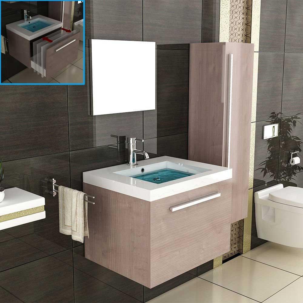Lavandino e mobiletto/Marrone Mobili da bagno/specchio/Bagno/lavabo/lavabo/lavandino