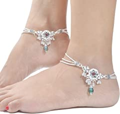 Charms Anklet for Women (Silver)(ANK171)
