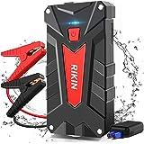AOKBON Avviatore di Emergenza 1200A 13200mAh Avviatore Batteria Auto per Motore Benzina Impermeabile Diesel 5.0L e Benzina 6.