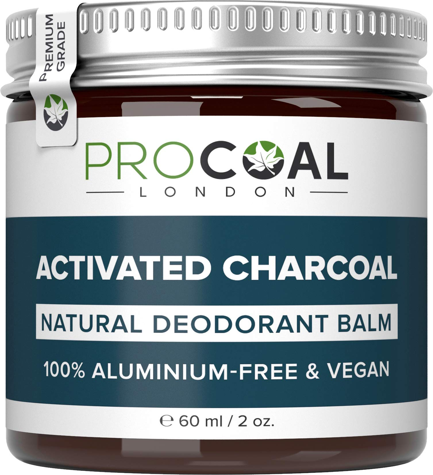 Natural Deodorant with Activated Charcoal by PROCOAL – 100% Aluminium Free Deodorant Mens & Womens, Better Than Nuud & Native Deodorants, Cruelty-Free, Paraben, Phthalates & Plastic Free, Made in UK