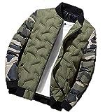 Chaqueta de Bombardero de Camuflaje para Hombre Cortavientos para Hombre Abrigos Militares Gruesos y cálidos Parkas
