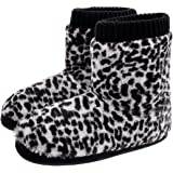 Women's Bootie Slippers Warm Comfort Memory Foam Plush Lining Ladies House Shoes