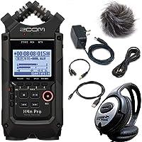 ZOOM H4n PRO Black Handy Recorder + APH-4n PRO Zubehör Set + keepdrum Kopfhörer