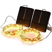 Solar Mini Teeny winzige Lichter, Sternen String Licht für Garten Fee, Baum, Geländer, Arbor, Zaun, 16 Fuß 50 LEDs, 2…