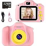 vatenick Cámara para Niños Juguete para Niños Cámara Digital para Niños pequeños 2 Inch HD Pantalla 1080P with Calidad 32GB T