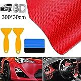 STARPIA autofolie carbonfolie 6D autofolie zelfklevende koolstofvezel vinylfolie, waterdichte autosticker met kunststof schra