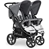 Hauck Roadster Duo SLX Side by Side Double Pushchair up to 36 kg with Lying Position from Birth, Easy Folding, Large Wheels -