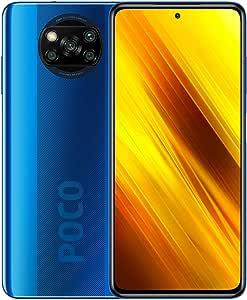 POCO X3 NFC - Smartphone 6 + 128 GB, 6,67 Zoll FHD+ Punch-hole Display, Snapdragon 732G, 64 MP AI Quad-Kamera, 5.160 mAh, Cobalt Blue (Offizielle Version + 2 Jahre Garantie)