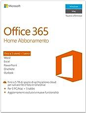 Microsoft Office 365 Home [5 PC / 1 anno] (Versione 2016)