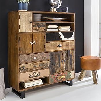 Wohnling Sideboard Nima 138x40x68 Cm Massivholz Vintage Anrichte