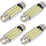 Safego 4x C5W LED Blanca 41mm 30-SMD-3014 211-2 578 Bombilla Festoon Interior del Coche 6000k