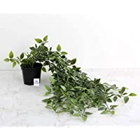 Heart Home Artificial Plants with Plastic Pot (Green)