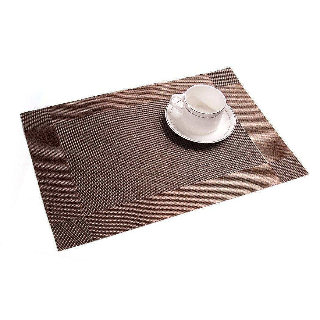 addfun®table mats(set of )premium washable place mats nonslip  - addfun®table mats(set of )premium washable place mats nonslip insulationpvc mats for dining table (silver) amazoncouk kitchen  home