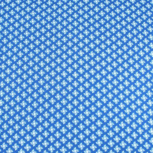 Weiß Mustern auf Blau führenden Marke 100% Baumwolle Fat Quarter FQ Quilten, Wimpelkette, Craft Stoff fq124a (Blau Und Weiß Fat Quarter)