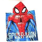 Poncho para niños con Capa, Capa de baño para niños, Poncho de Patrulla, Poncho de Spiderman, Poncho de Unicornio (C)