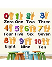 StickMe PVC Vinyl Wall Sticker 'Numbers From 0 To 10 Learning Education Nursery School Kinder Garden for Baby (mm, 100 X 80 cm)