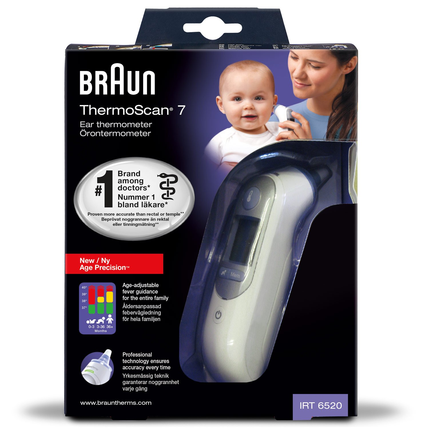 braun thermo scan 7 infrarot ohrthermometer irt6520. Black Bedroom Furniture Sets. Home Design Ideas