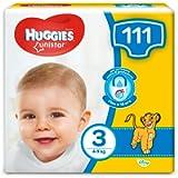 HUGGIES Unistar Pannolini, Taglia 3 (4-8 kg), Confezione da 111 pannolini