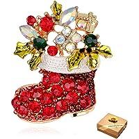 CAILI Spilla di Natale,Spilla Ornamenti Natalizi Natale Stivali Corpetto Spilla per Regalo Donne Sposa Pin Dress Sciarpe…