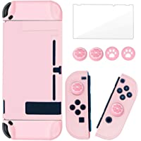 BRHE Dockable Switch Protective Case Cover for Nintendo Switch Controllers with Glass Screen Protector, Anti-Scratch…