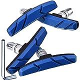 Hotop V Bike Brake Pads with Hex Nuts and Spacers V Bicycle Brake Blocks Set 70 mm