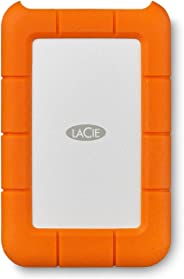 LaCie Rugged USB-C 4TB External Hard Drive Portable HDD – USB 3.0, Drop Shock Dust Rain Resistant Shuttle Drive, for Mac and