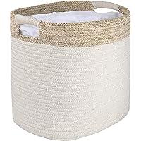 La Jolíe Muse Panier de rangement en corde de coton, organiseur pour jouets, linge, couvertures, cadeau décoration de la…