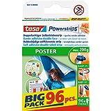 Tesa Powerstrips POSTER / dubbelzijdige plakstrip voor posters, affiches en lichte borden tot 200 g - verwijderbaar en herbru