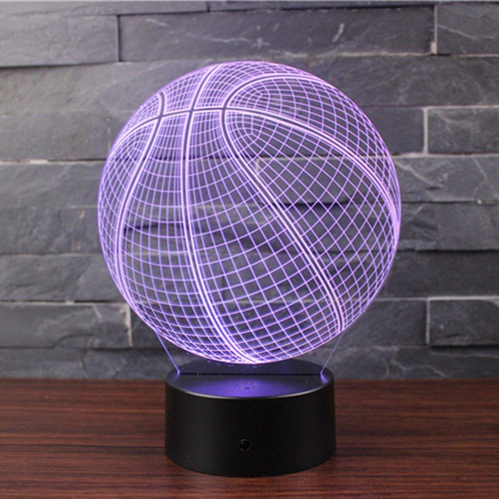 3D Lámpara de Escritorio Mesa 7 cambiar el color botón táctil de escritorio del USB LED lámpara de tabla ligera Decoración para el Hogar Decoración para Niños Mejor Regalo