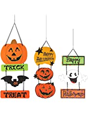 My Party Suppliers Halloween Pumpkin Hanging Strips (Multicolour)