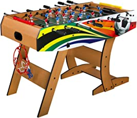 Boot BOY Foosball Table/Soccer Table/Wooden Foosball Table - Best Selling Models (Brown with Graphics)