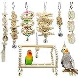 GingerUP Lot de 7 Jouets à mâcher pour Oiseaux, perroquets, perruches, perruches, aras, Oiseaux inséparables