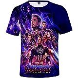 FLYCHEN Homme 3D T-Shirts à Manches Courtes Avengers Endgame Quantum Realm Col Rond Avengers: Infinity War Fans T-Shirt