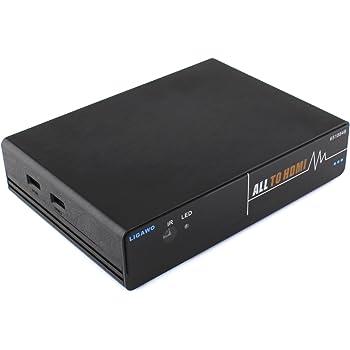 7 in 1 zu HDMI Konverter – Composite/Component/VGA/2x HDMI/2x USB zu HDMI Wandler  integrierter Scaler 720p/1080p/1280x1024 Pixel