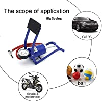 PrimeOne Foot Pump, Portable High Pressure Foot Pump, Air Tyre Inflator, Pump Compressor for Bike/Car/Cycles and All Vehicles | air Foot Pump