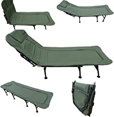"""Amaze"" Folding outdoor camping travelling sea beach, hotel, hospital, home adjustable padded bed, sun lounger, beach lounger - Dark Green"