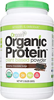 Orgain Organic Plant Based Protein Powder, Creamy Chocolate Fudge, 2.03 Pound, 1 Count
