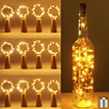 luz de Botella, Kolpop luz Corcho, luces led para Botellas de Vino 2m 20 LED a Pilas Decorativas Cobre Luz para Romántico Bod