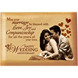 Presto Best Personalized Wood Engraving Photo Frame for Birthday, Valentine's Day, Corporate (Wooden, 4 x 5 inch)