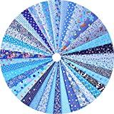 Grannycrafts 42 Stück 11,8 x 7,87 Zoll (30 x 20cm) oben Baumwolle gedruckt Craft Stoff Bundle Squares Patchwork Fusseln Print Tuch Stoff Tissue DIY Nähen Scrapbooking Quilten blau