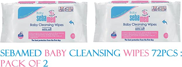 Sebamed Extra Soft Baby Cleansing Wipes (72 Pieces) : Pack Of 2