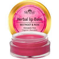 Mexmy Beetroot & Rose Lip Balm With Beetroot Ext, Rose Ext, Honey, Apricot Oil, Almond Oil, Enrich With Shea Butter…