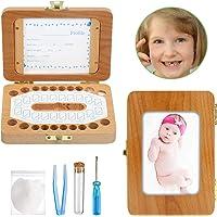 Ballery Boîte à Dents pour Bébé, Peut Mettre Photo Boîte à Dents De Lait Organisateur De Rangement Pour Les Dents De L…