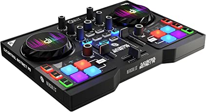 Hercules DJ Instinct P8 4780861 Dual-Deck Controller (Black)